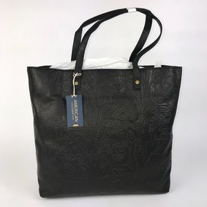 American Leather Company Nashville Floral Tote